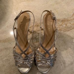 Cole Haan Silver strappy sandals